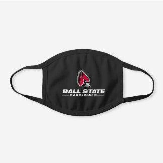 Ball State Cardinals Athletic Mark Black Cotton Face Mask