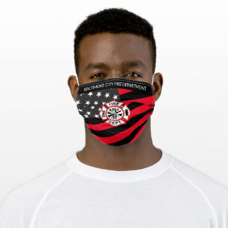 Baltimore City Fire Department Firefighter Adult Cloth Face Mask