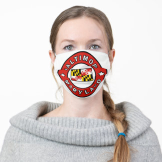 Baltimore Maryland Adult Cloth Face Mask