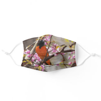 Baltimore Oriole Adult Cloth Face Mask