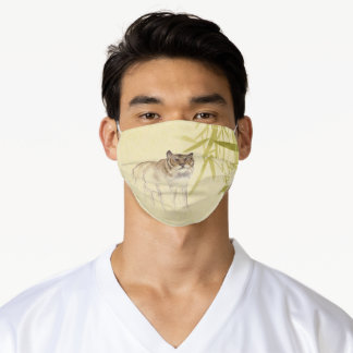 Bamboo Drawing Tiger Chinese Year 2022 Birthday FM Adult Cloth Face Mask