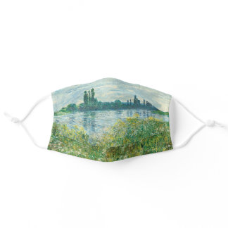 Banks of the Seine River by Monet Adult Cloth Face Mask