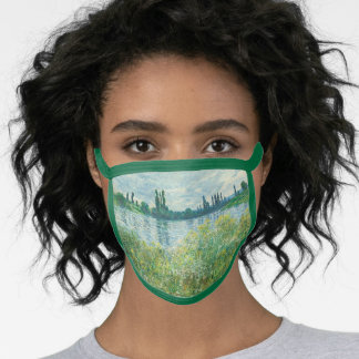 Banks of the Seine River by Monet Face Mask