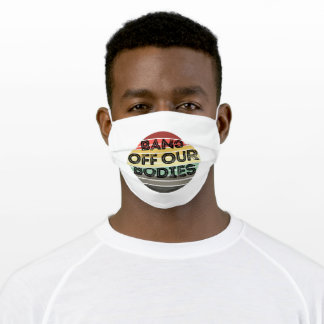 Bans Off Our Bodies Dot Retro Rust Adult Cloth Face Mask