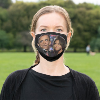 BARACK AND MICHELLE OBAMA face mask
