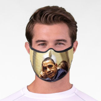 BARACK OBAMA facemask Premium Face Mask