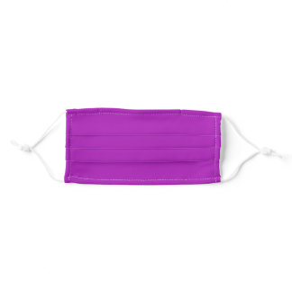Barney (solid color)  Adult Cloth Face Mask