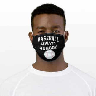Baseball Always Hungry Ball Gift Awesome Adult Cloth Face Mask