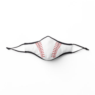 Baseball Drawing with Red Stitch Pattern Premium Face Mask