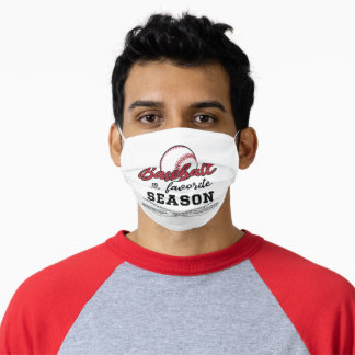 Baseball Is My Favorite Season - GraphicLoveShop Adult Cloth Face Mask