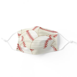 Baseball Pattern Cloth Face Mask