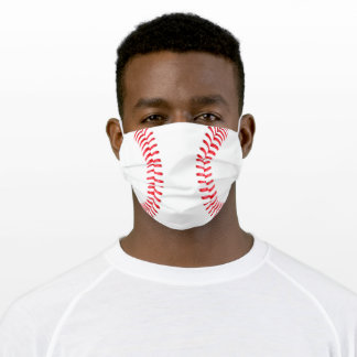 Baseball Player or Fan Adult Cloth Face Mask
