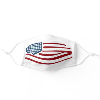 Baseball USA Flag Bats & Balls - GraphicLoveShop Adult Cloth Face Mask