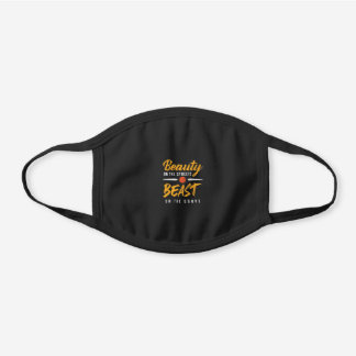 Basketball Beast On The Court Black Cotton Face Mask