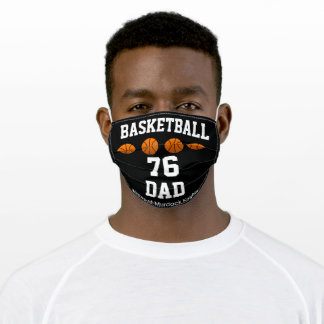Basketball Dad, Fun Basketball Gifts Adult Cloth Face Mask