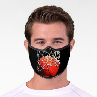 Basketball Digital Painting Sports Art Premium Face Mask