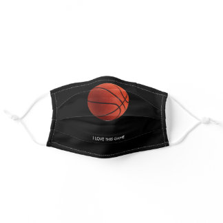Basketball Illustration Painting Art Sports Adult Cloth Face Mask