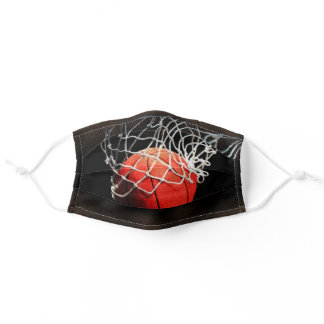 Basketball Illustration Painting Sports Art Adult Cloth Face Mask