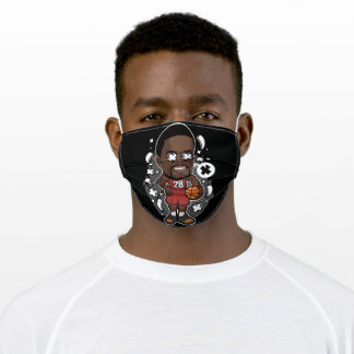 Basketball player character adult cloth face mask