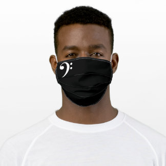 bass clef music adult cloth face mask