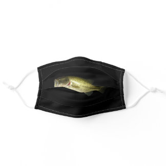 Bass Fisherman Outdoor Sport Black Adult Cloth Face Mask