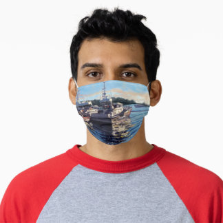 Bass Harbor Fishing Boats Impressionistic Oil Pain Adult Cloth Face Mask