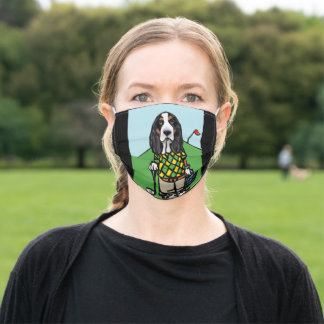 BASSET HOUND ADULT CLOTH FACE MASK