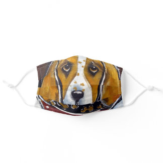 BASSET HOUND CHEF ADULT CLOTH FACE MASK