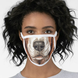 Basset hound funny animal face nose mouth face mask