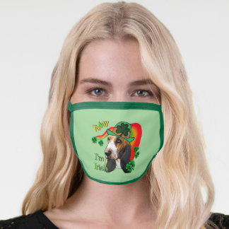 Basset Hound St. Patricks Day Face Mask