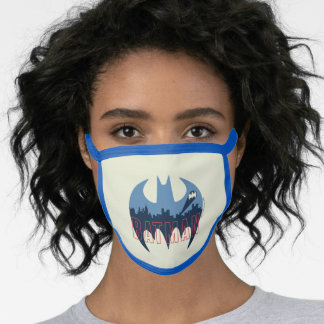 Bat Logo With Gotham & Bat Signal Face Mask