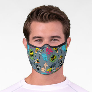 Batman And Robin Action Pattern Premium Face Mask