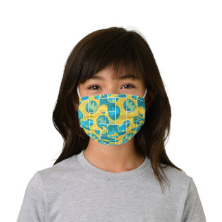 Batman Comic Capers Pattern 3 Kids' Cloth Face Mask