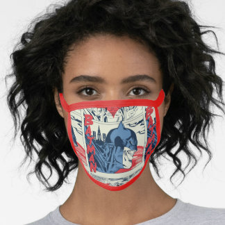 Batman Crime Fighting Comic Book Page Face Mask
