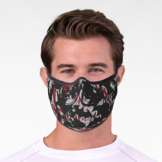 Batman Urban Legends - Bat Text Stamp Pattern Premium Face Mask