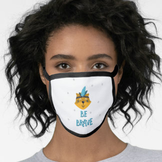 Be Brave cute bear feathered headband Face Mask