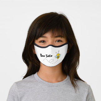 Be Safe Cute and Funny Pun Bee Reusable Premium Face Mask