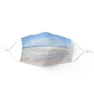 Beach Front View Summer Sand Ocean Adult Cloth Face Mask