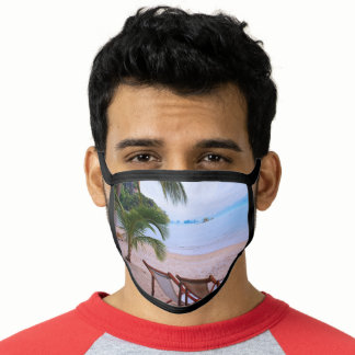Beach Palms Vacation Face Mask