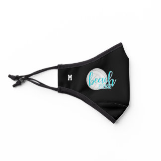 beach please monogrammed volleyball premium face mask