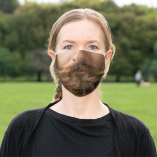 Beard and Big Mustache | Mens Funny Adult Cloth Face Mask