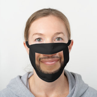 Beard Black Cotton Face Mask