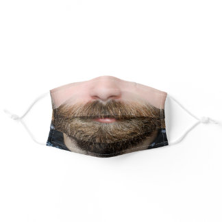 Beard Face Mouth Man Adult Cloth Face Mask