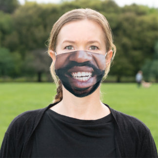 Bearded Black Man | Funny Adult Cloth Face Mask