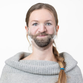 bearded male man adult cloth face mask