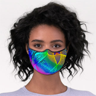 Beautiful Abstract Colorful Art Multicolor - Chic Premium Face Mask