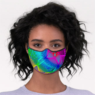 Beautiful Abstract Colorful Art - Multicolor Chic Premium Face Mask