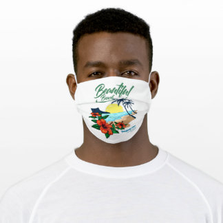 Beautiful beach in indonesia adult cloth face mask