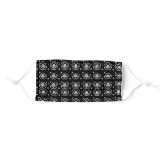 Beautiful black and white ornamental pattern adult cloth face mask