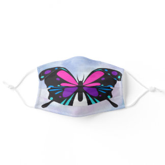 Beautiful Bright Butterfly Adult Cloth Face Mask